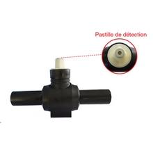 Vanne PE 1/4 de tour à boisseau sphérique - Fermeture sens anti-horaire - Carré de 30 - 21010R0