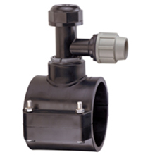 Prise de branchement TAPPER pour tubes PVC et PE - Dérivation à compression - 6540