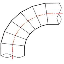 Coude à 90° à embouts mâles - PE100 SDR17 - 9057S
