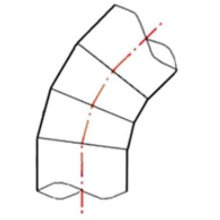 Coude à 45° à embouts mâles - PE100 SDR17 - 9067S