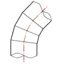 Coude à 45° à embouts mâles - PE100 SDR7,4 - 9069S