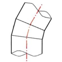 Coude à 11° à embouts mâles PE100 SDR17 - 9507S