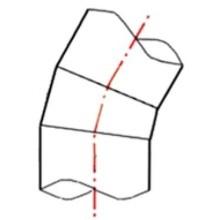 Coude à 30° à embouts mâles (Segments) PE100 SDR17 - 9537S