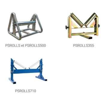 Support rouleaux pour tubes PE - PS ROLLS