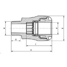 Raccord mâle ISO 7-1 PE-Cuivre 1002C