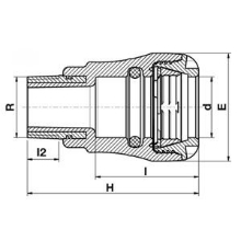 Raccord mâle - Filetage laiton 10720