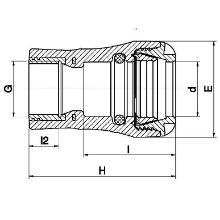 Raccord femelle - Taraudage Laiton ISO 228 1073G