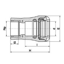 Raccord femelle - Taraudage laiton 10730