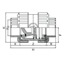 Clapet de retenue taraudé - Joints FPM 1091