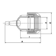 Bouchon fin de ligne + valve PLASSCOM FIBRE 121209V