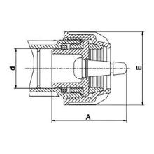 Bouchon male + valve Plasscom 12129V