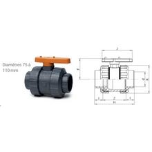 Vanne BI-STOP à coller - Joints EPDM 1250-1240