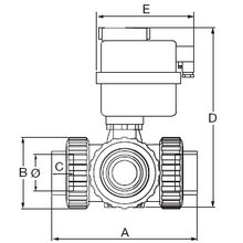 Electro-vanne 3 voies 220V type T 1580T