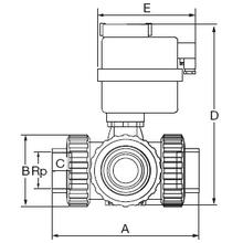 Electro-vanne 3 voies taraudée 220V  type T 1581T