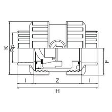 Vanne à ventouse taraudée - Joints EPDM 1631