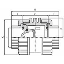 Vanne à ventouse à coller - Joints FPM 1690