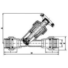 Robinet à soupape oblique - Embouts à compression - Joints NBR 3046