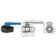 Vanne 1/4 de tour PARV avec 2 prises de purge (Type L) 3730F