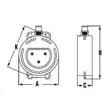 Clapet anti-retour avec ressort et indicateur de position (joint EVA inclus) 5043