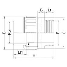 Manchon union 3 pièces - Taraudé sur Rp - Fileté sur R 5083