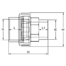 Manchon union 3 pièces - Femelle à coller sur d - Fileté sur R 5182