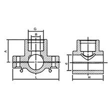 Collier de prise avec bague de renforcement en acier inoxydable 6076