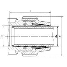 Adaptateur pour tube acier galvanisé 7897