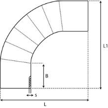 Coude à 90° à embouts mâles - PE100 SDR 7.4 9059S