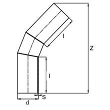 Coude à 45° à embouts mâles - PE100 SDR17 (Segments) 90671