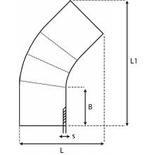 Coude à 45° à embouts mâles - PE100 SDR17 9067S
