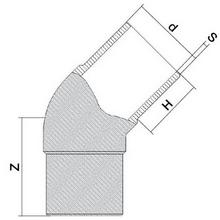 Coude à 45° à embouts mâles - PE100 SDR7,4 9069