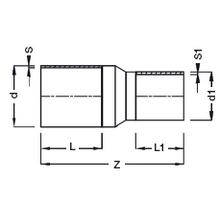 Réduction à embouts mâles - PE100 SDR17 (Segments) 9117S
