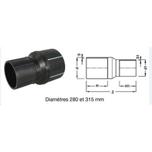 Réduction à embouts mâles - PE100 SDR7,4 9119