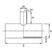 Té à 90° réduit à embouts mâles (segments) - PE100 SDR17 91471