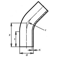 Courbe à 45° à embouts mâles - PE100 SDR17 9467
