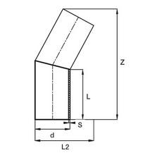 Coude à 30° à embouts mâles - PE100 SDR17 (Segments) 95371