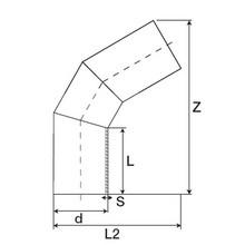 Coude à 60° à embouts mâles - PE100 SDR17 (Segments) 95671.