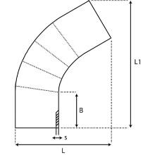 Coude à 60° à embouts mâles PE100 SDR7.4 9569S